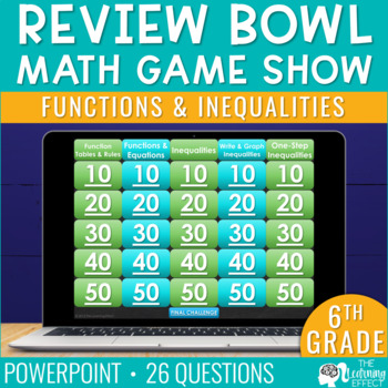 6th Grade Math Game - Functions & Inequalities