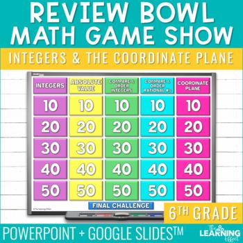 6th Grade Math Game - Integers & the Coordinate Plane