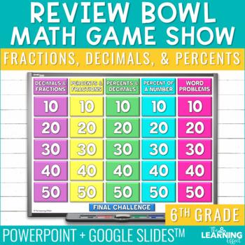 6th Grade Math Game - Fractions, Decimals, Percents