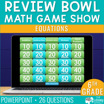 6th Grade Math Game - Equations
