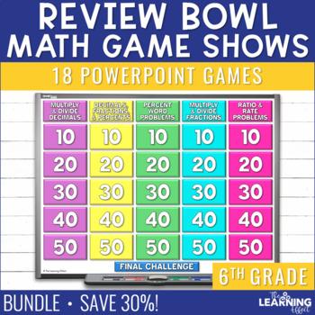 6th Grade Math Game Review - BUNDLE