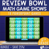 6th Grade Math Game Review | BUNDLE