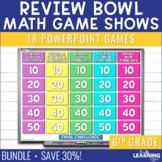 6th Grade Math Game Show Review | BUNDLE