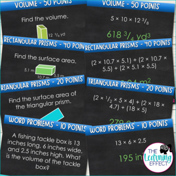 6th Grade Math Game | Volume and Surface Area