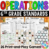 6th Grade Math Games: Fraction, Decimal, & Whole Number Operations {6.NS.1-4}