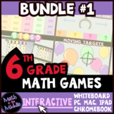 6th Grade Math Games - Interactive Games BUNDLE #1