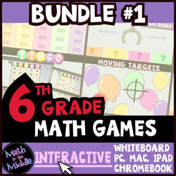 6th Grade Math Games - Interactive Games BUNDLE #1