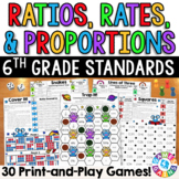 6th Grade Math Games: Ratios, Proportions, & Unit Rates {6.RP.1, 6.RP.2, 6.RP.3}