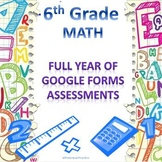 6th Grade Math Google Forms Assessments Bundle for the Ent