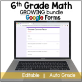 6th Grade Math Google Forms Practice Bundle