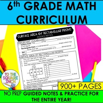 6th Grade Math Guided Notes and Activities