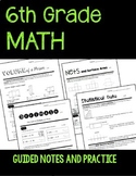 6th Grade Math Guided Notes and Practice
