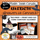 6th Grade Math Halloween Task Cards Activity - The Number System