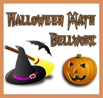 6th Grade Math - Halloween Bellwork - 5 Days