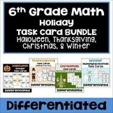 6th Grade Math Holiday Task Card Bundle