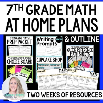 7th Grade Math Home Learning Packet for Distance Learning
