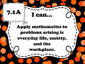 "7th Grade Math ""I Can"" Statements - TEKS"