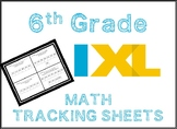 6th Grade Math IXL Tracking Sheet