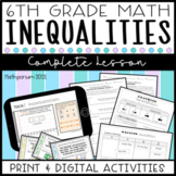 Inequalities Complete Lesson (Distance Learning)