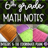 6th Grade Math - Integers & The Coordinate Plane Notes