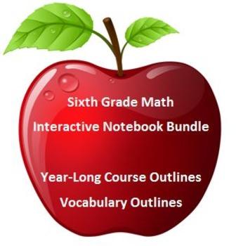 6th Grade Math: Interactive Math Notebooks BUNDLE