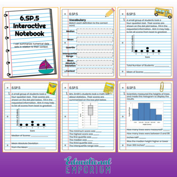 6th Grade Math Interactive Notebook, All Standards: Interactive Notebook, Math
