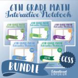 COMMON CORE ⭐ 6th Grade Math Interactive Notebook ⭐ All Standards