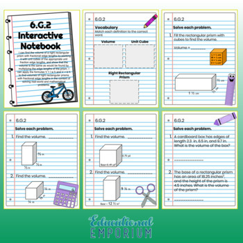 6th Grade Math Interactive Notebook, Digital + Paper (Google & PDF Formats)