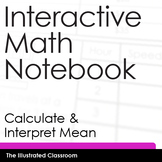 Interactive Math Notebook - How to Calculate Mean or Average