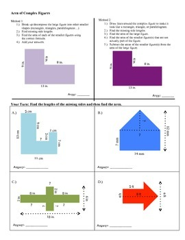 6th Grade Math Interactive Notebook: Unit 5 Area and Volume