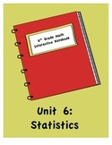 6th Grade Math Interactive Notebook: Unit 6 Statistics