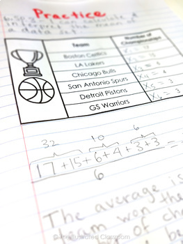 6th Grade Math Interactive Notebooks Guided Notes for Statistics & Probability