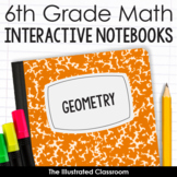 6th Grade Math Interactive Notebooks Guided Notes for Geometry