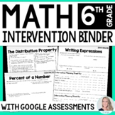 6th Grade Math Intervention Binder