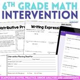 6th Grade Math Intervention Binder Bundle - Great for Dist