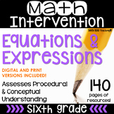 6th Grade Math Intervention Pack Expressions and Equations RTI Distance Learning