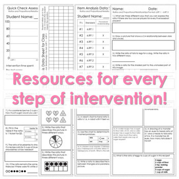6th Grade Math Intervention Pack Statistics and Probability RTI Math Resources