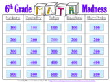 6th Grade Math Madness Game! Interactive Power Point Presentation