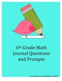 6th Grade Math Journal Questions and Prompts