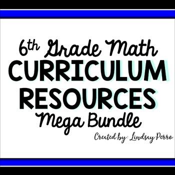 6th Grade Math Curriculum Resources Mega Bundle