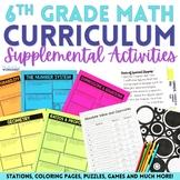 6th Grade Math Activities ENDLESS Bundle