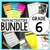 6th Grade Math Curriculum Resources Bundle : A Year of Supplemental Activities