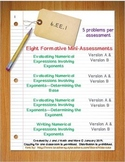 6th Grade Math:  6.EE.1 Mini-Assessments