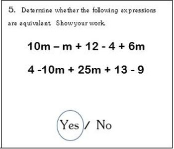 6th Grade Math:  6.EE.4 Mini-Assessments