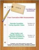 6th Grade Math:  6.NS.5 Mini-Assessments