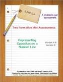 6th Grade Math:  6.NS.6a Mini-Assessments