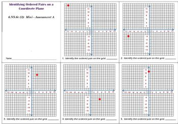 6th Grade Math:  6.NS.6c Mini-Assessments