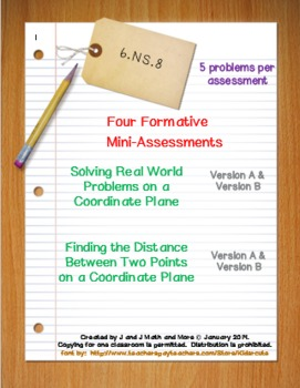 6th Grade Math:  6.NS.8 Mini-Assessments