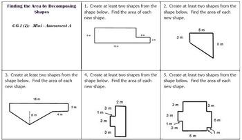 6th Grade Math: Mini-Assessments for the Geometry Domain BUNDLED