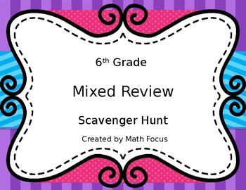 6th Grade Math Mixed Review
